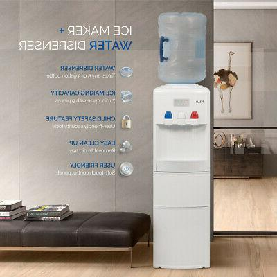 ice maker stand up white water cooler