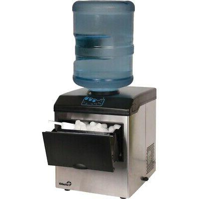 Chard IM-15SS Stainless Steel Ice Maker with Water Dispenser