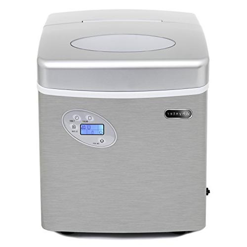 Whynter IMC-491DC Maker Connection, 49 lb. Capacity, Stainless Steel