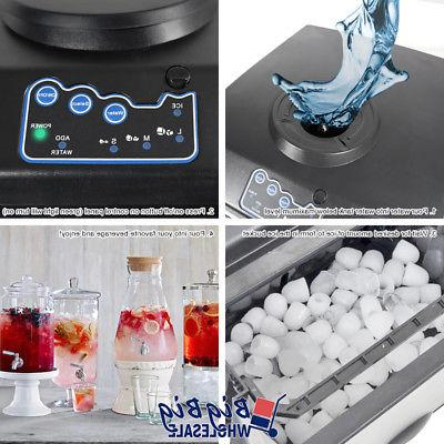 Portable 2 1 Water Ice Maker 33lbs/Day