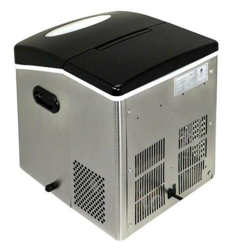 Portable Ice Maker 50 Stainless Steel Fast Minutes