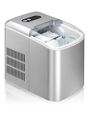 Sunpentown Portable Countertop Ice Maker - Silver