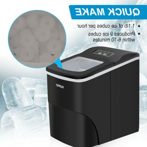 Portable Ice Cube Compact Machine Counter-top 26lbs/ Day