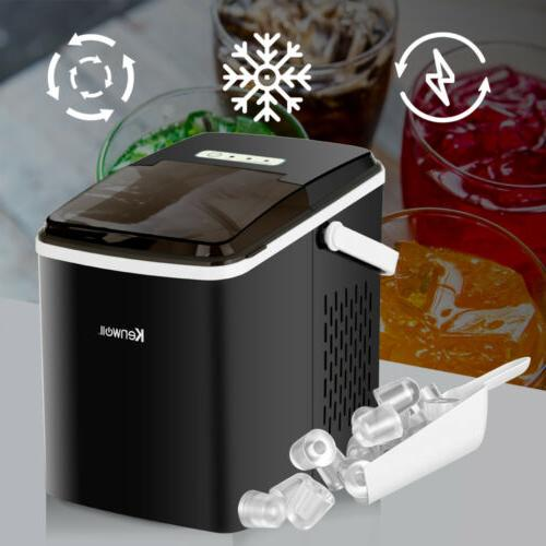Electric Portable Ice Maker Cube Machine 26lbs/