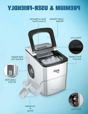 IKICH Ice Maker Machine for Cubes Ready in