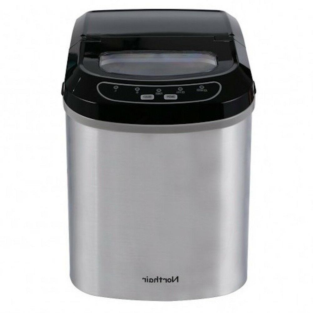 portable ice maker stainless steel countertop machine