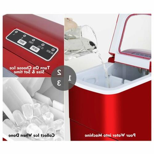 Red Electric Ice Machine Cube Home