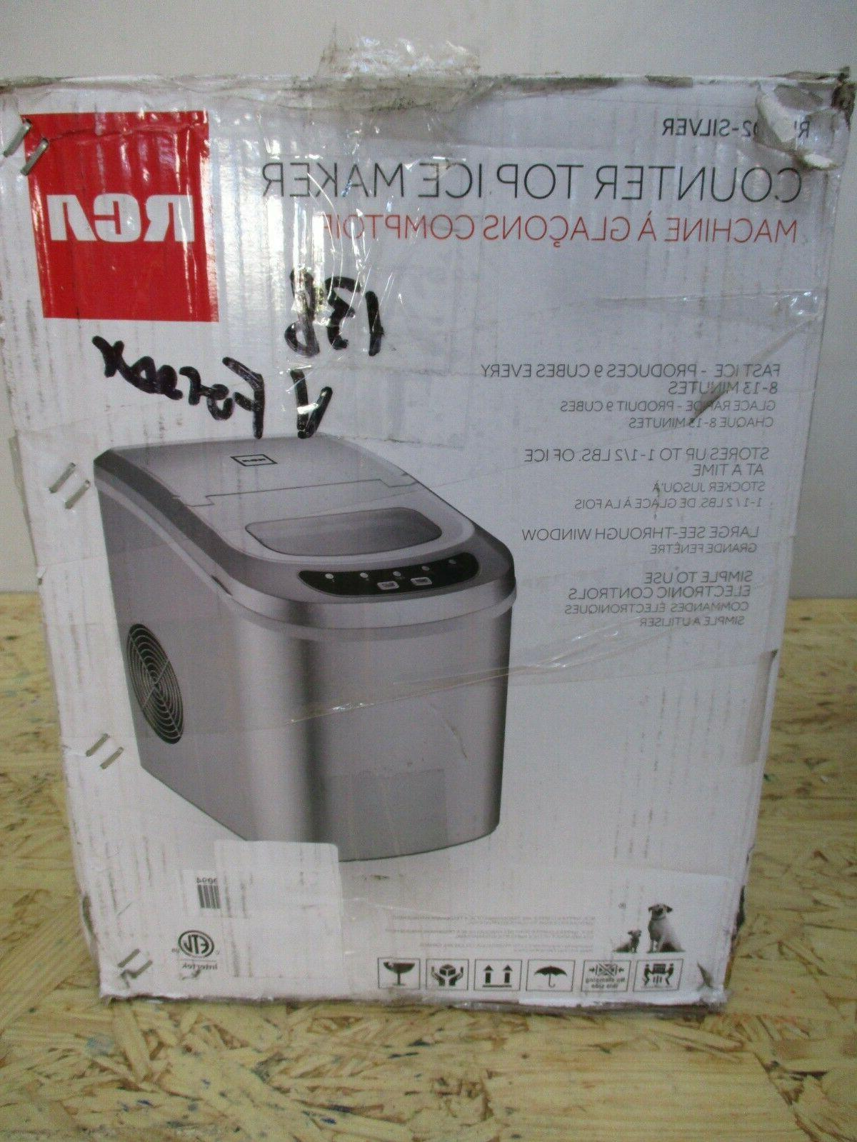 ric102 silver compact ice maker silver