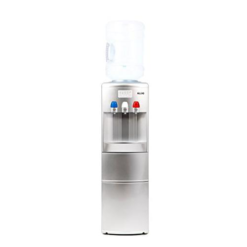 silver cold water dispenser child