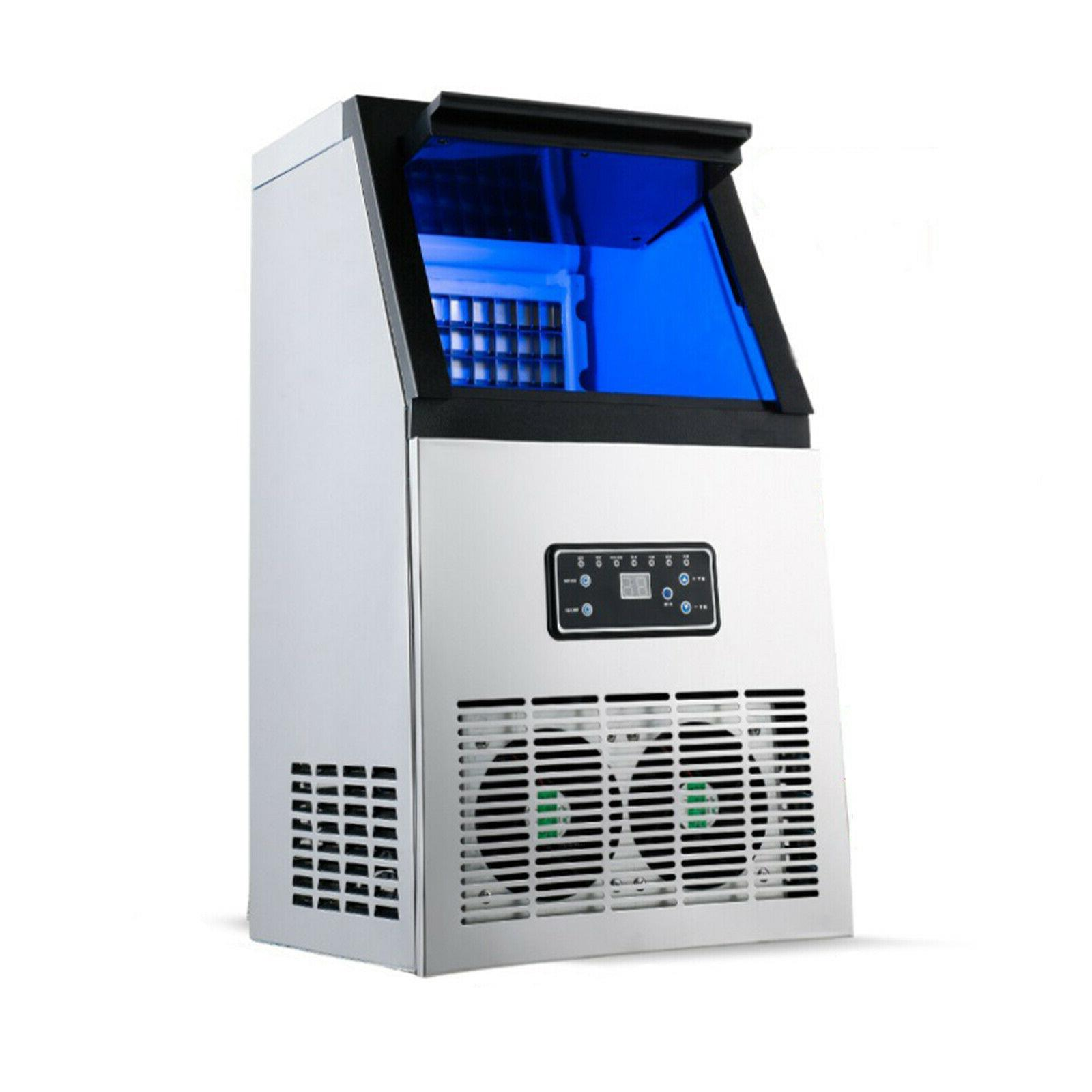 Stainless Steel Undercounter Ice Maker Air Cooled Cube
