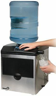 Chard Stainless Steel Ice Maker with Water Dispenser