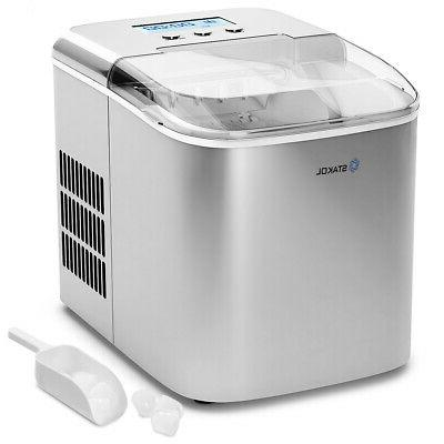 stainless steel ice maker countertop 26lbs 24h
