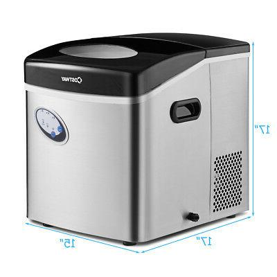 Stainless Countertop Per Day Freestanding Icemaker