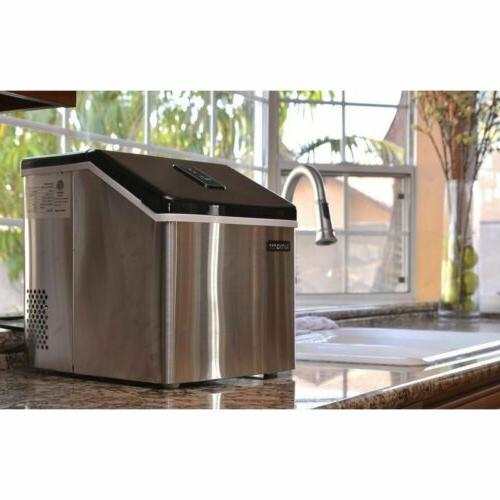 Stainless Portable Ice Maker, Countertop Home Small Machine
