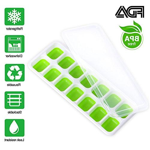 Trays Chocolate Pack with Spill-Resistant Removable Lid and Ice Clip 42-Ice Trays Free Non-toxic for Drinks Whiskey Cocktail