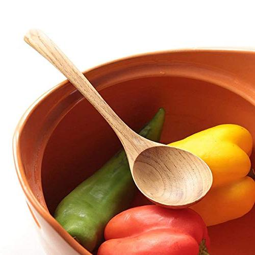 Wooden Spoon Large Long Handled Spoon Cooking Spoon Big Soup Spoon