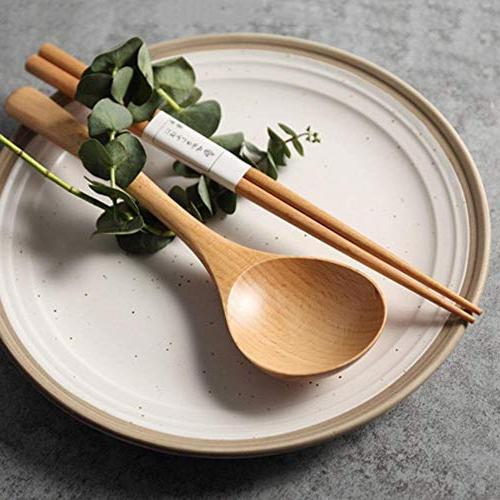 Wooden Long Handled Spoon Wood Cooking Rice Soup Spoon Utensils