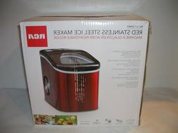 NEW Curtis/RCA RIC117-SSRED 26 lb. Countertop Ice Maker - RE