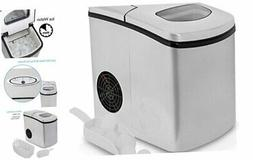 NutriChef Upgraded Digital Portable Ice Maker Machine - Heav