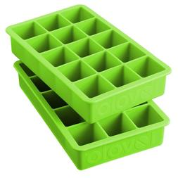 Tovolo Perfect Cube Spring Green Silicone Ice Cube Tray Set