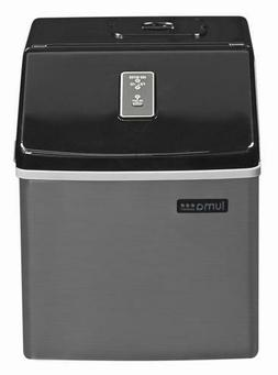 """Portable 14"""" Ice Maker 28 Pounds Stainless Steel LED Display"""
