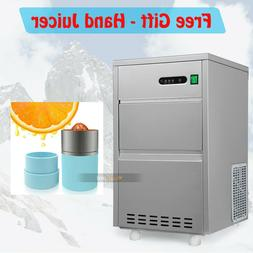 Portable 60lbs/day Countertop Commercial Bullet Ice Maker Ma