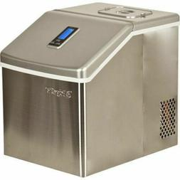 Portable Clear Cube Ice Maker - Compact Countertop Small Sta