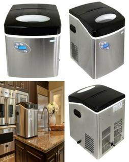 Portable Countertop Ice Maker 50 Lbs a Day Stainless Steel F