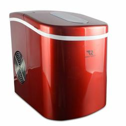 Portable Countertop Ice maker Machine Red Compact 26LBS/24HR