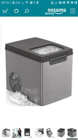 Vremi Portable Countertop Ice Maker Machine Stainless Steel/