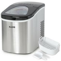 Portable Electric Ice Maker Stainless Steel Up to 26 Pounds