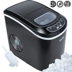 DELLA Portable Electric Ice Maker, Touch Button Display, 26