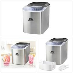 PORTABLE ICE MAKER 26 lb Stainless Steel Freezers Removable