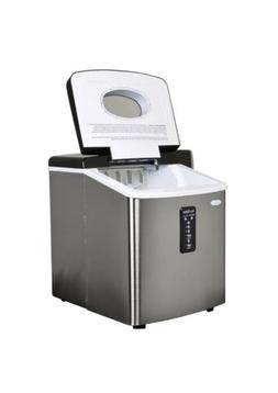 Newair Portable Ice Maker, 28lbs Stainless Steel