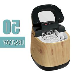 Portable Electric Ice Maker Countertop Ice Cube Compact Mach