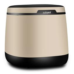 Portable Ice Maker large capacity 50 lbs, golden gray color,