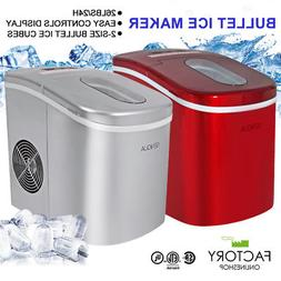 Portable Ice Maker Machine Countertop 2-Size Mini Bullet  26