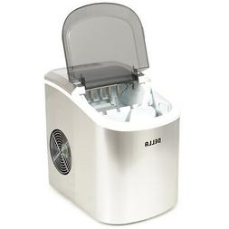 Della Portable Ice Maker w/Easy-Touch, 2-Selectable Cube Siz