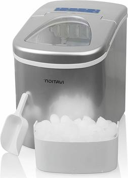 Portable Ice Maker w/Easy-Touch Buttons for Digital Operatio