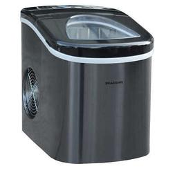 Frigidaire Portable Self Cleaning Ice Maker, Black Stainless