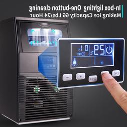 portable stainless steel commercial ice maker w