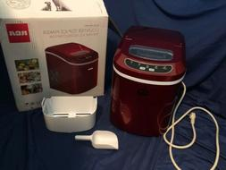 RCA ICE102 Compact Ice Maker - Red