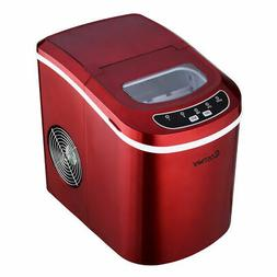 Red Portable Compact Electric Ice Maker Machine Mini Cube 26