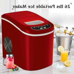RED Portable Electric Ice Maker Countertop Igloo Compact Mac