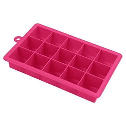 Silicone Ice Cube Tray - 5 Colors 15 Grids Silicone Mold Eco