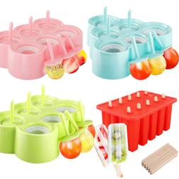 Nuovoware Silicone Popsicle Makers Ice Pop Makers Rectangle