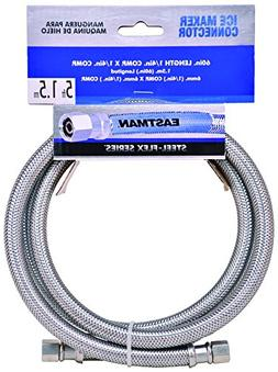 "EASTMAN STAINLESS 1/4"" COMPX1/4""COMP-5FT-ICEMAKER CONNECTOR-"