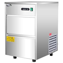 Costway Stainless Steel Commercial Automatic Ice Maker Porta