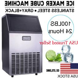 Stainless Steel Commercial Ice Maker Cube Undercounter Frees