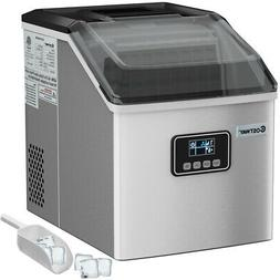 Stainless Steel Ice Maker Machine Countertop 48Lbs/24H Self-